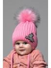 Детская вязаная шапка Зебра D75932-42-46