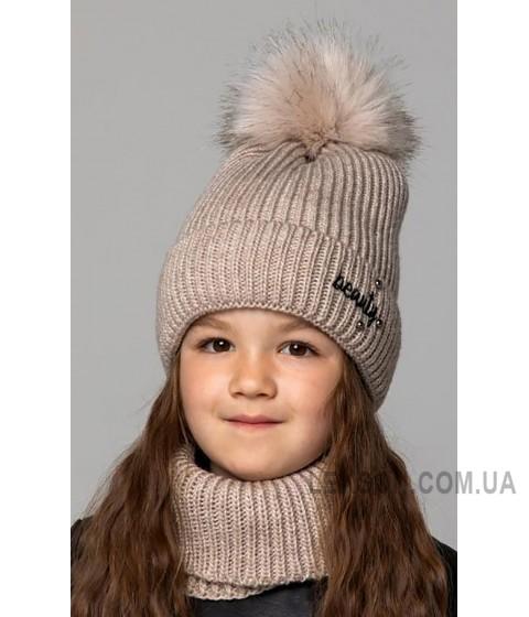 Детская вязаная шапка Комплект Классик Girl D77949-48-52