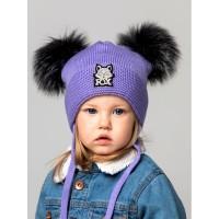 Детская вязаная шапка Фокс D74035-44-48