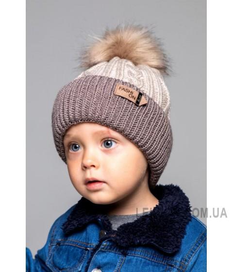 Детская вязаная шапка Алекс D70032-46-50