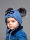 Детская вязаная шапка Винни D75736-44-48